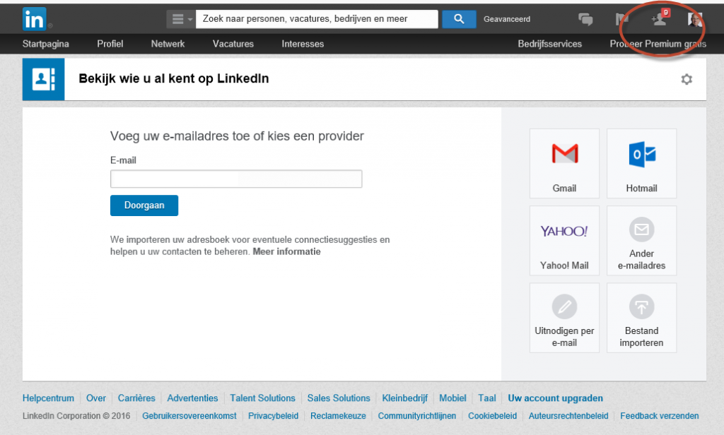 LinkedIn contacten uit adresboek - Process-IT.nu